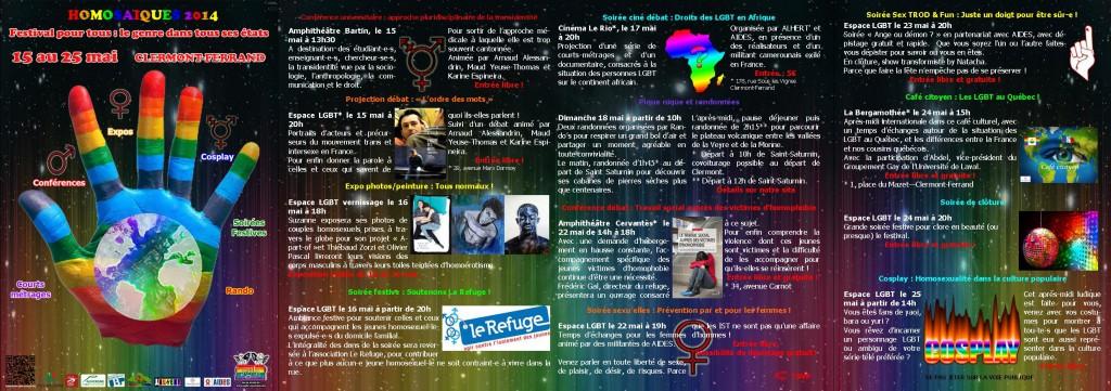 Programmation 2014 des Homosaïques