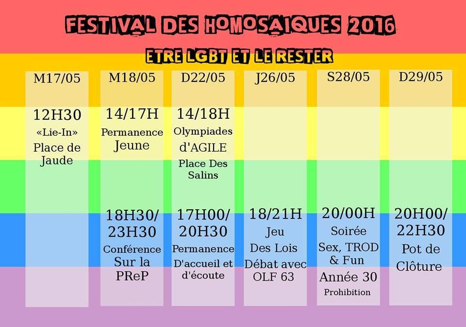 Festival des Homosaïques 2016